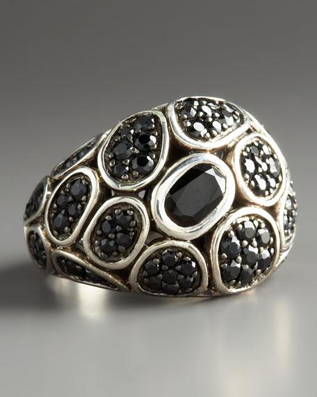 Kali Silver Lava Ring