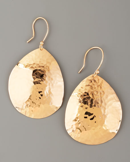 Hammered Rose Gold Earrings