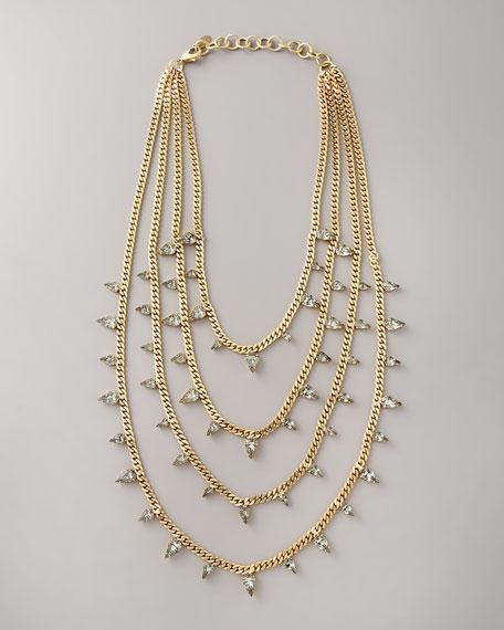 Multi-Strand Swarovski Necklace