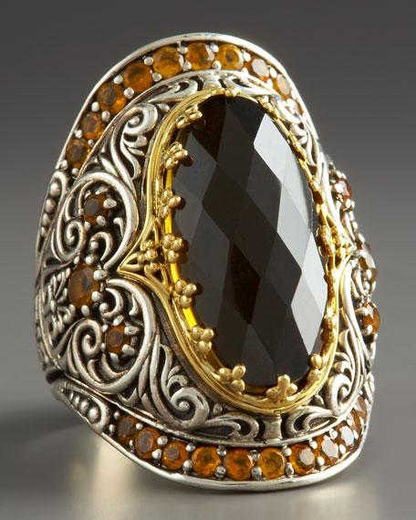 Cognac Quartz Ring