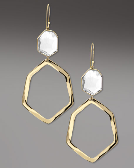 Geometric Drop Earrings, Quartz