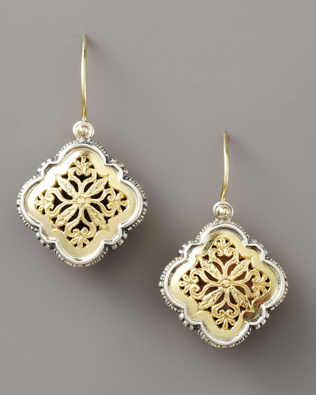 Filigree Clover Drop Earrings