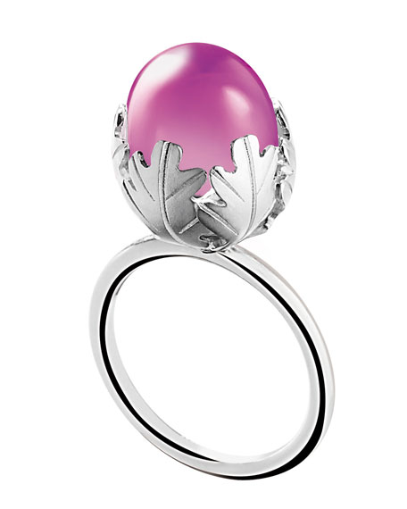 Murmure Sterling Silver Ring, Peony