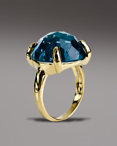 London Blue Topaz Lollipop Ring