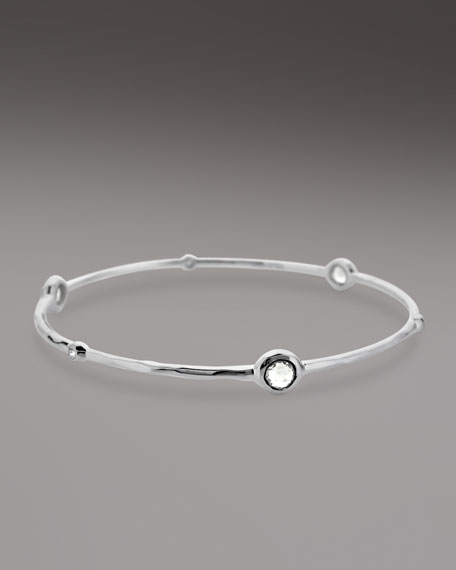 Clear Quartz & Diamond Lollipop Bangle