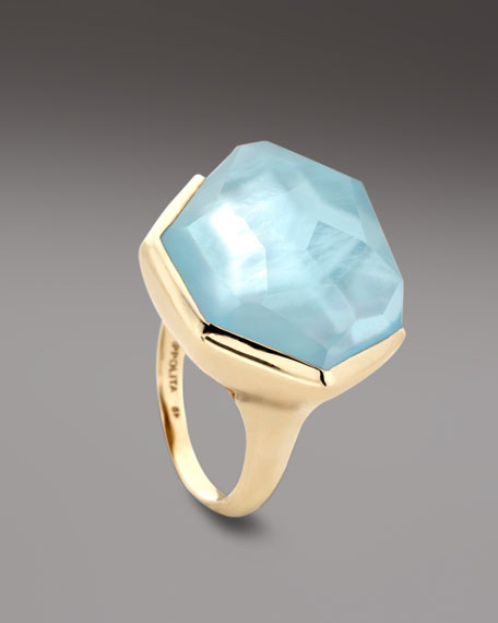 Blue Topaz Rock Candy Ring