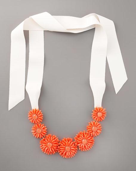 gerbera garden statement necklace