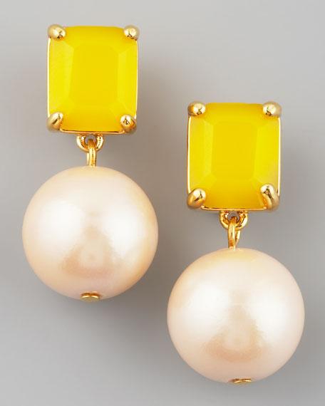 treasure chest drop earrings