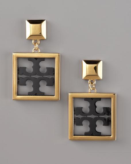 Julian Logo Earrings, Small