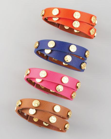 Logo-Studded Wrap Bracelet