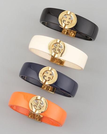 Tory Burch Logo-Hinge Enamel Bracelet
