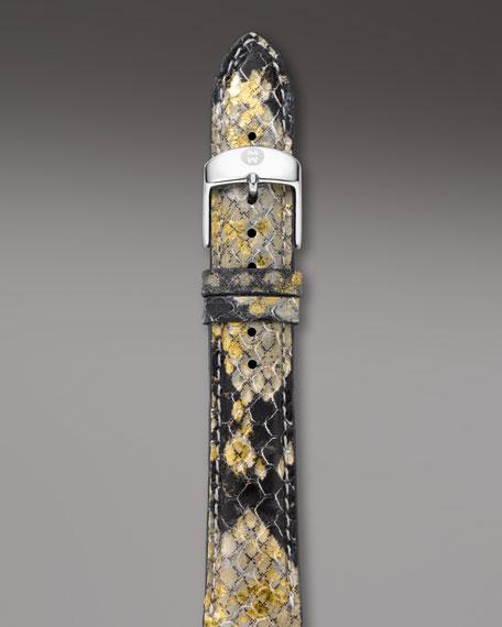 18mm Snake-Embossed Bracelet Strap