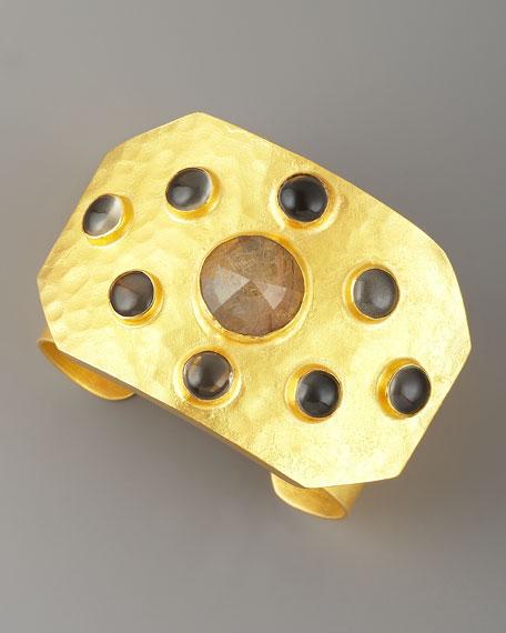Rejoice Multi-Stone Cuff, Quartz