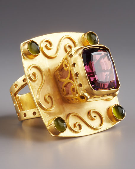 Cardinal Multi-Stone Ring