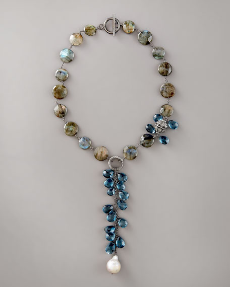 Labradorite & Topaz Necklace