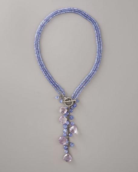 Purple Lariat Necklace