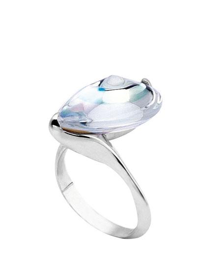 Fleurs de Psydelic Clear Mirror Ring