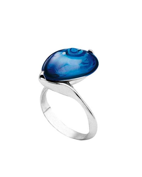 Fleurs de Psydelic Blue Mirror Ring