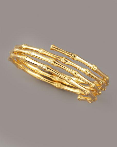 Triple Coil Bracelet, Gold