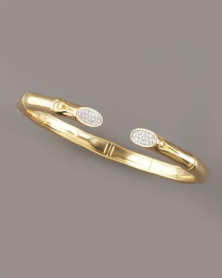 Pave Diamond Bamboo Cuff