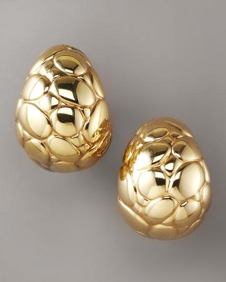 Buddha-Belly Earrings, Gold
