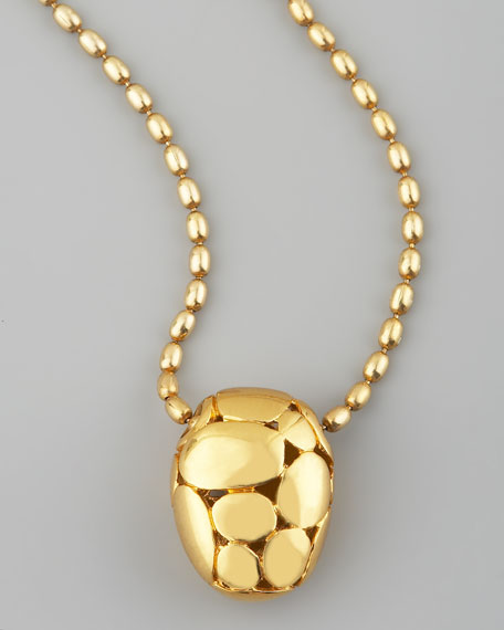Kali Bead-Pendant Necklace, Gold