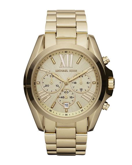 Mid-Size Bradshaw Chronograph Watch, Golden