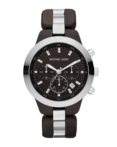 Mid-Size Showstopper Chronograph Watch, Brown