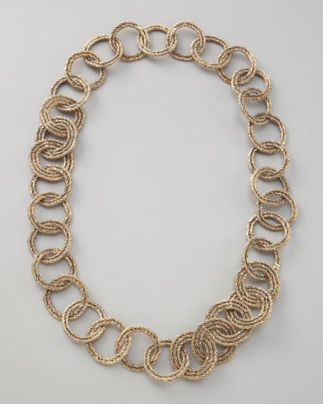 Gold Rope-Link Necklace