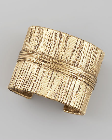 Dakota Wrapped Gold Cuff