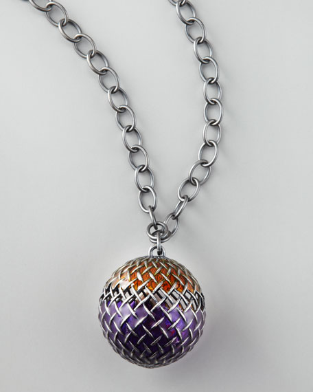 Woven-Ball Pendant Necklace