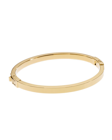 Golden Skinny Hinge Bangle