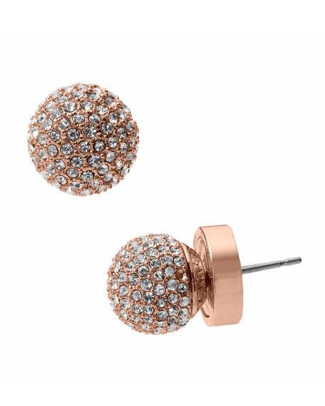 Rose Golden Fireball Earrings