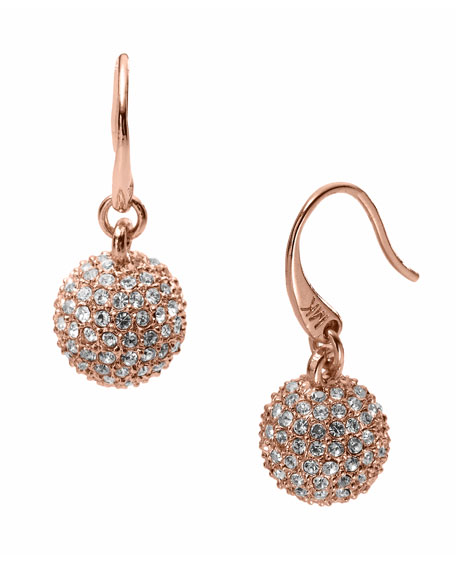 Rose Golden Fireball Drop Earrings