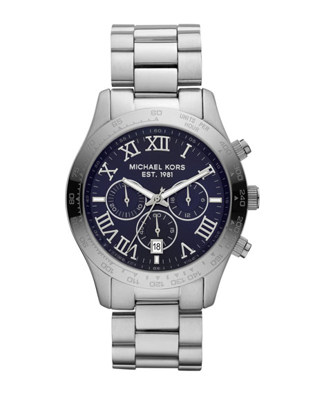 Men's Mid-Size Layton Chronograph Watch, Silver-Color