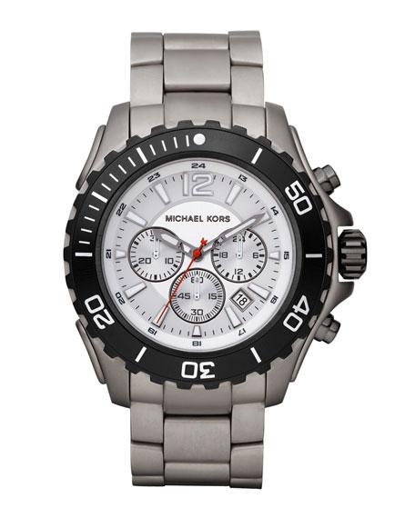 Drake Chronograph Watch, Silver-Color Titanium