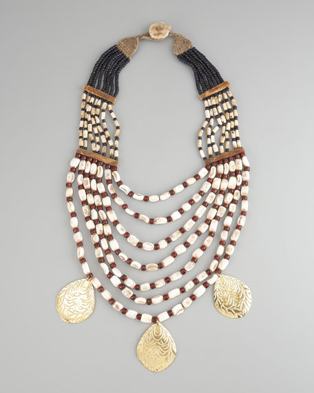 Multi-Strand Drop Necklace