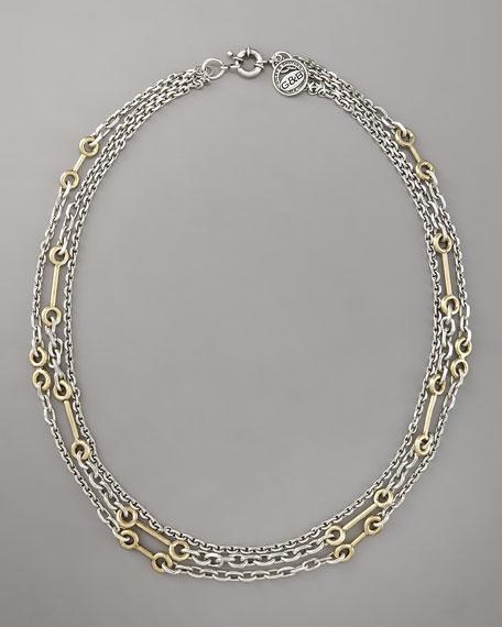"""Archer Multi-Chain Necklace, 30""""L"""