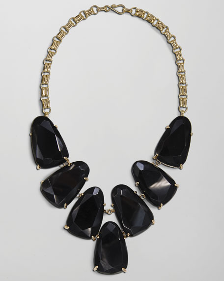Harlow Necklace, Black Onyx