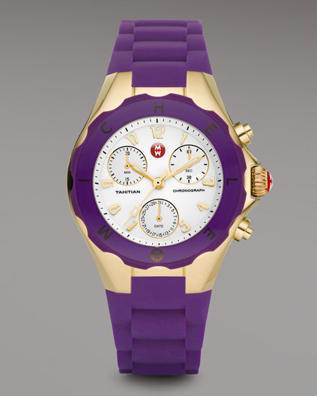 Gold Tahitian Large Jelly Bean Chronograph, Purple