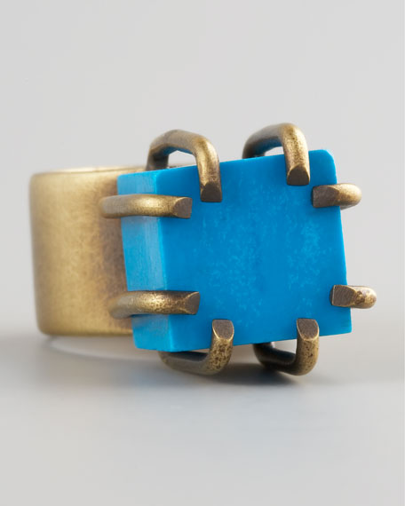 Turquoise Cube Ring