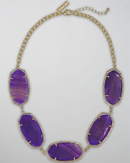 Valencia Necklace, Purple Agate