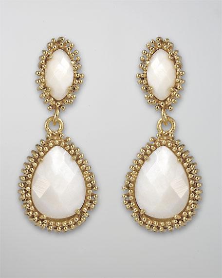 Kelli Earrings, Mother-of-Pearl