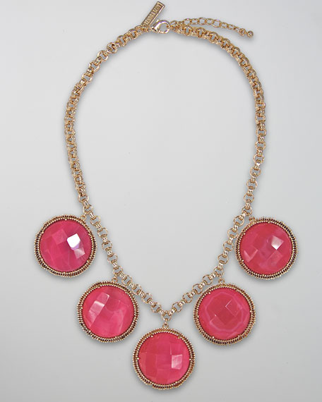 Natasha Necklace, Pink Agate