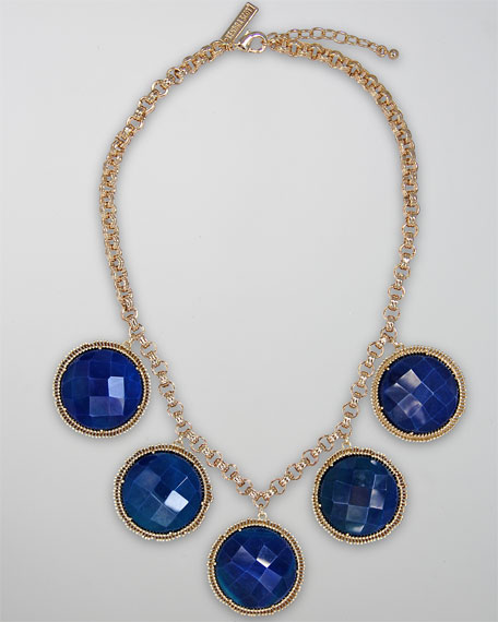 Natasha Necklace, Blue Agate