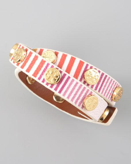 Striped Logo Wrap Bracelet