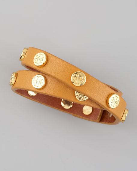 Logo Wrap Bracelet, Mustard