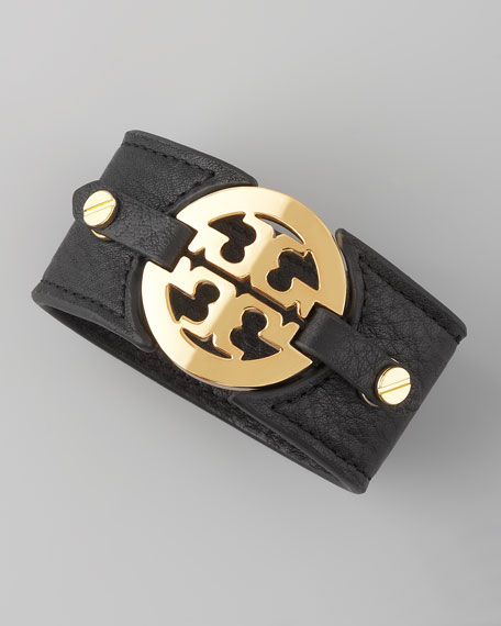 Logo Double-Snap Cuff, Black