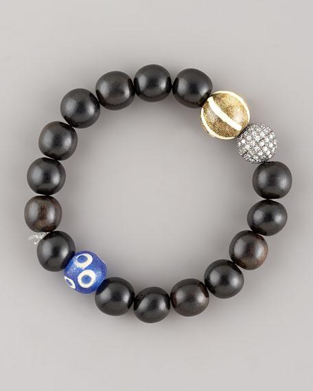 Wood-Bead Bracelet