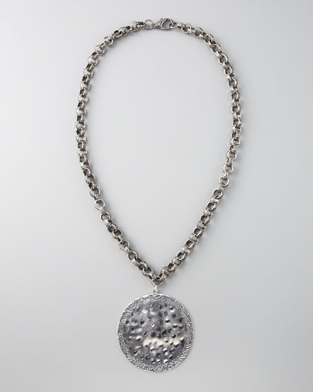 Hammered Pendant Necklace
